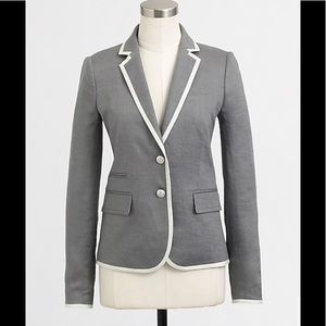 J Crew Factory Keating Boy Blazer in Tipped Linen